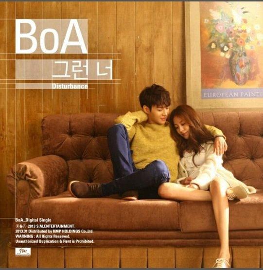 Taemin sur la pochette du nouveau single de BoA