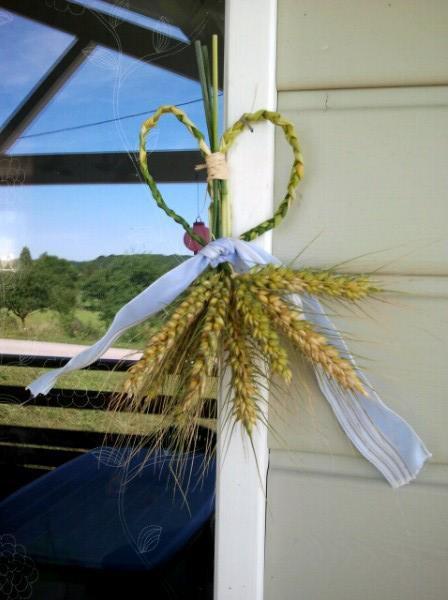 coeur en blé tréssé