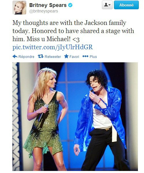Tweet de Britney (25/06)