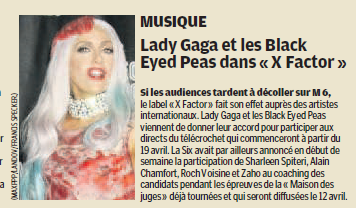 The Fame Monster a X-Factor ? (en France)