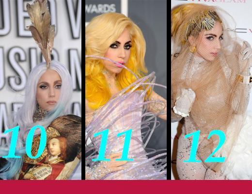Plusieurs tenues de Gaga