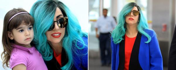 Gaga aperçu a l'aéroport de  Narita à Tokyo &  à l'aéroport de Toronto.