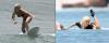18/08/11 Gaga qui prenait des cours de surf au Mexique :D