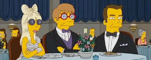 Gaga dans les Simpson