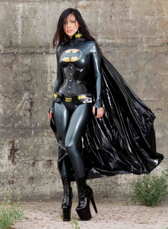 Batwoman en latex