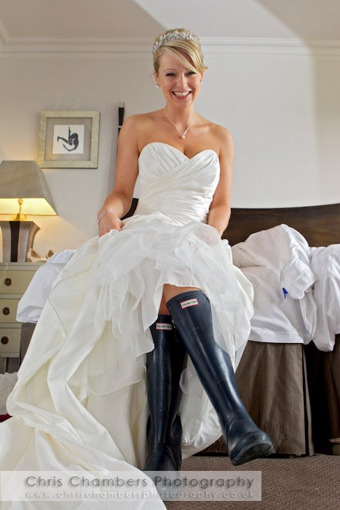 Just Married With Rubber Boots