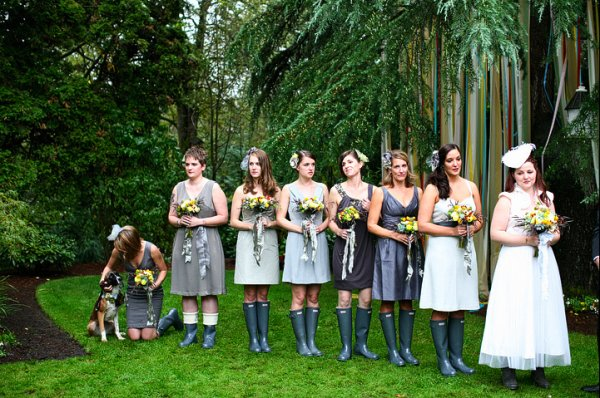 Just Married In Rubber Boots 2
