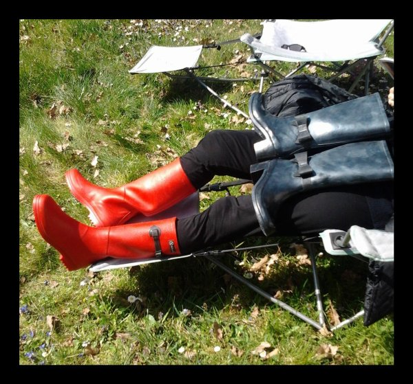 The Red Rubber Boots of my Wife