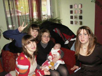 Marine, Océane, Séverine, Léane et moi