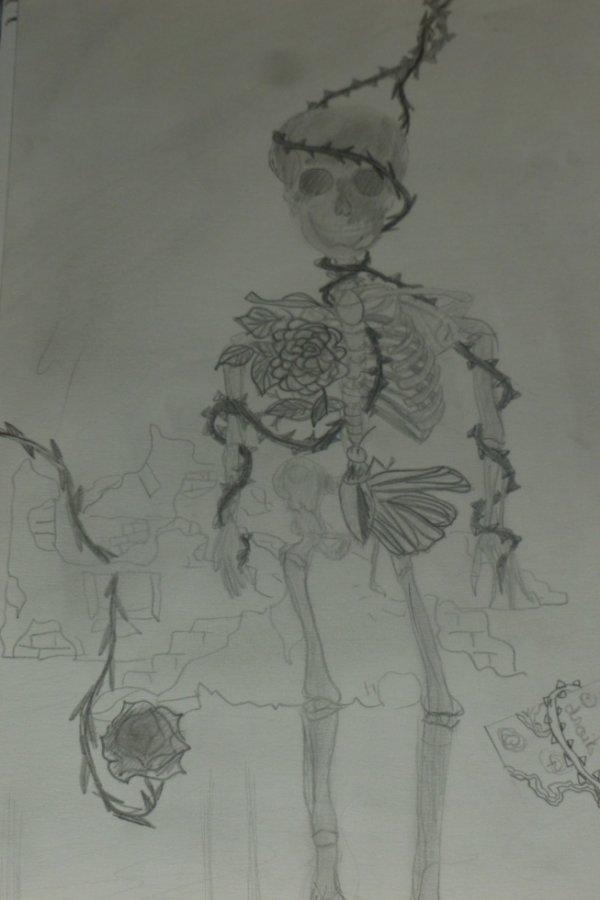 Un squelette un peu bizarre.