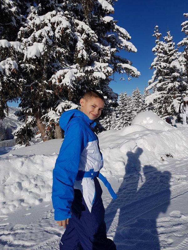 Journée au ski pour ma tribu.. Ma fille, mon gendre et mes loulous (Marwan, Mehdi et Kayna)