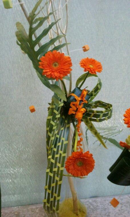 A l'exposition florale de Caen.