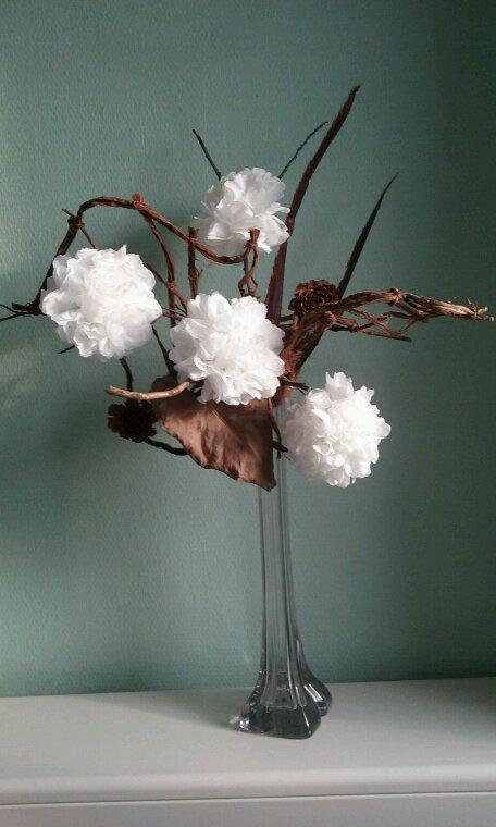 Fleurs en serviettes de table
