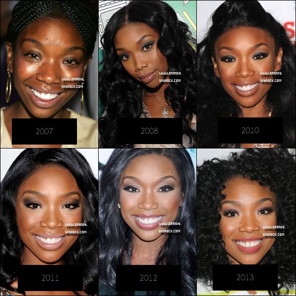 . © Découvre l'évolution de Brandy de 1999 à aujourd'hui !  .