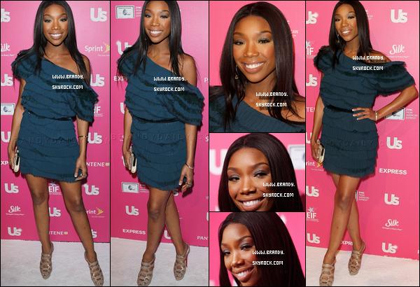 . 18/11/2010 : Brandy toute magnifique était attendue à l'événement « Us Weekly's Hot Hollywood » - Top or Flop? .