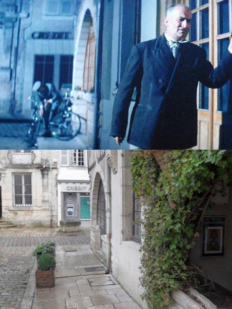 Quelques scènes de La grande vadrouille à Noyers sur Serein. (Yonne)
