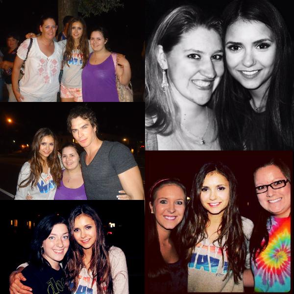 Photo de Nina sur le tournage de l'épisode 4 de cette saison 4 & les acteurs ont posé avec des fans