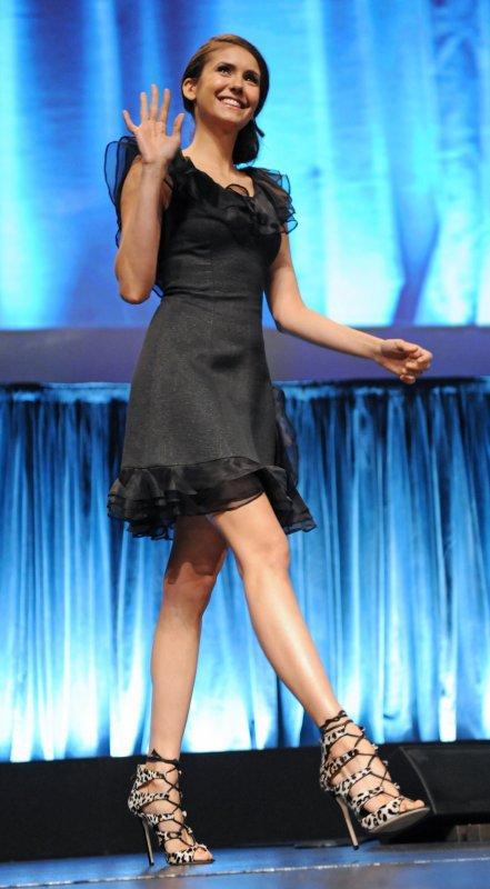 """10/03/2012 """"Paleyfest 2012"""" le célèbre évènement dédié aux sériés TV, un panel spécial Vampire Diaries, Nina Dobrev, Paul Wesley, Ian Somerhalder, Candice Accola, Katerina Graham, Matt Davis et Julie Plec étaient les invités"""
