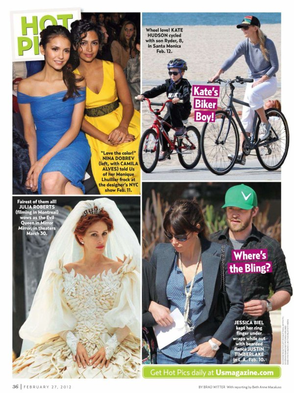 """Scans du magazine américain """"US Weekly"""" du mois de Février"""