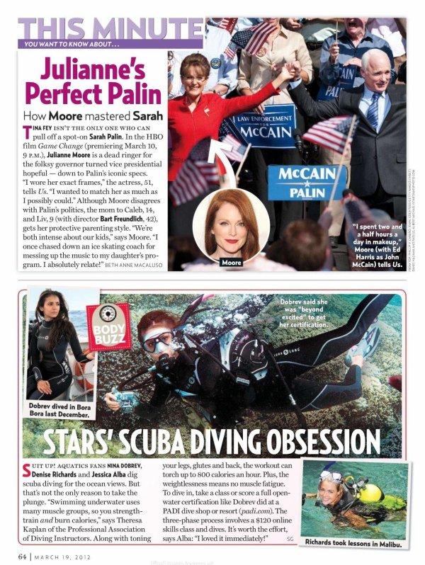 """Scans du magazine """"US Weekly"""" du mois de mars ou l'on voit Nina lors de son Voyage a Bora Bora"""