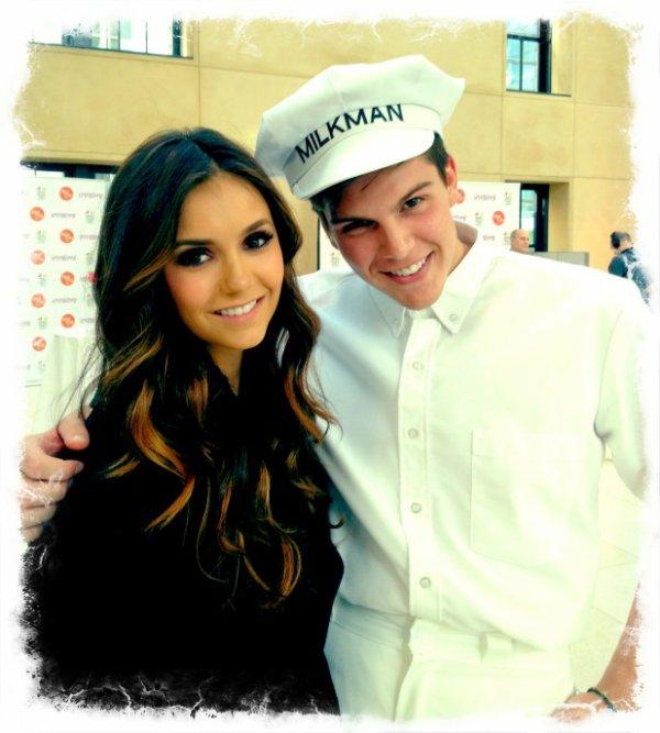 12/05/2012 Nina a twitter : Tellement amusant hier avec @paintaworld le lancement de Like her, Like me programme pour GOTMILK? Vous allez aimer votre laitier!