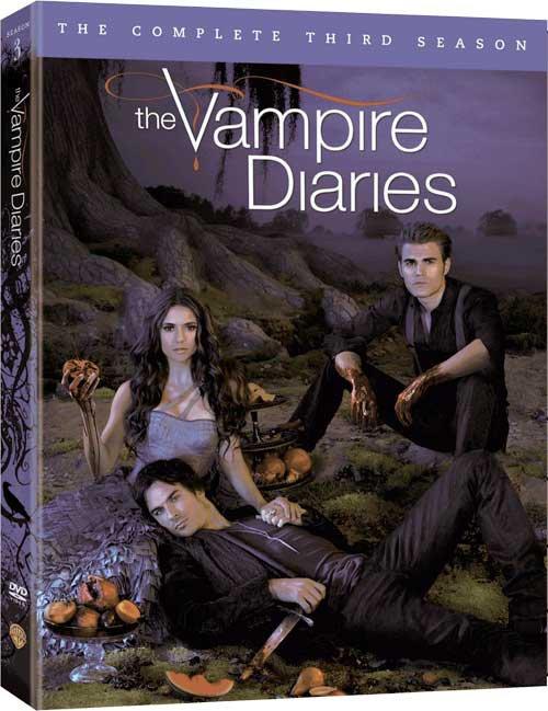 La couverture du DVD de la saison 3 de TVD