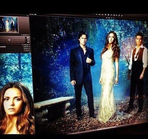 Une photo Promotionelle du photoshoot pour la Saison 4 de Vampire Diaries