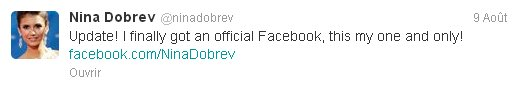 09/08/2012 Nina a twitter : Citation Photo Du Jour... Allez y pour cela!!!