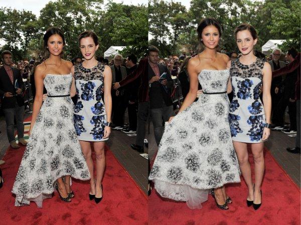 08/09/2012 Nina était a la Première de The Perks of Being a Wallflower au Toronto International Film Festival 2012