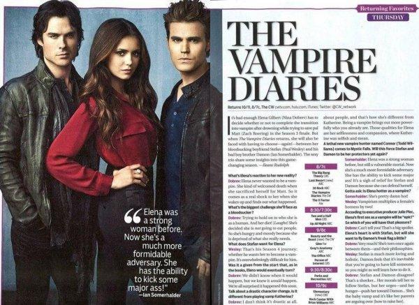 Nina, Ian & Paul sont dans le magazine TV Guide pour Septembre
