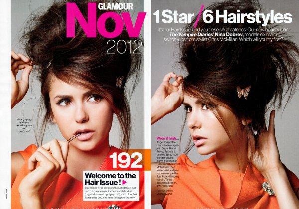 Un photoshoot de Nina pour le magazine Glamour du mois de novembre