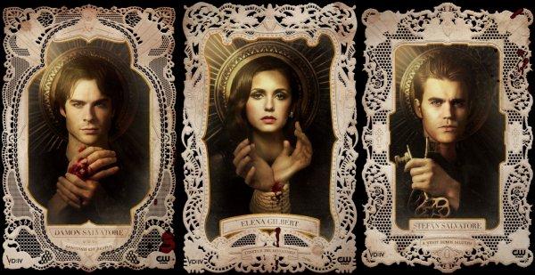 De nouvelles affiches promotionnelles pour Vampire Diaries Saison 4 avec des slogans latin