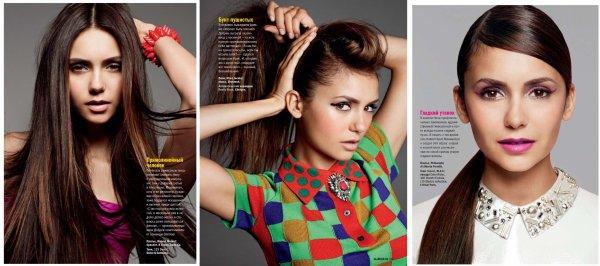"""Nina dans le magazine """"Glamour"""" de Russie pour le mois de décembre"""