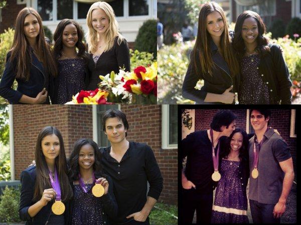 Quelques vidéos & interviews des acteurs de Vampire Diaries avec Gabby Douglas
