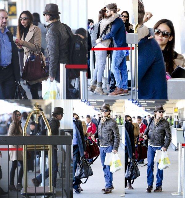 26/12/2012 Nina & Ian étaient a l'aéroport de LAX a Los Angeles avec un vol pour Shanghai