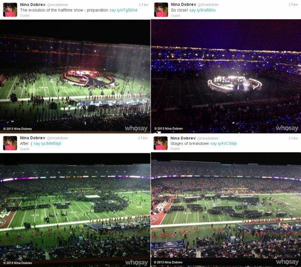 03/02/2013 Nina, Ian, Candice & son copain, Paul, Torrey & Julie Plec étaient au Super Bowl XLVII