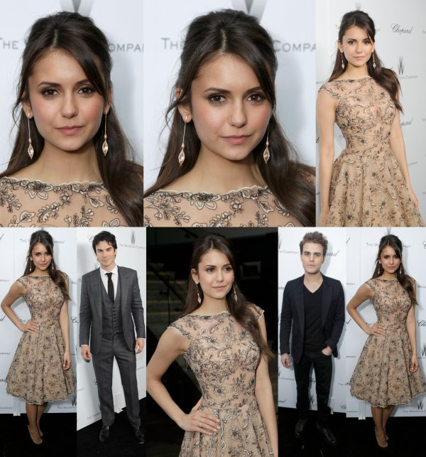 "23/02/2013 Nina était au Film Awards Independent Spirit 2013 à Santa Monica Beach en Californie pour soutenir Stephen Chbosky qui a gagné un award pour son film The Perks of Being a Wallflower dans la catégorie ""Meilleur premier film"""