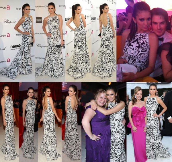24/02/2013 Nina, Ian, Paul, Kat, Julie Plec & Kevin Williamson étaient au 21ème annuelles Elton John AIDS Foundation Academy Awards Viewing Party à West Hollywood Park au Pacific Design Center en Californie, qui a pour but de combattre le Sida & soutenir la recherche pour lutter contre la discrimination