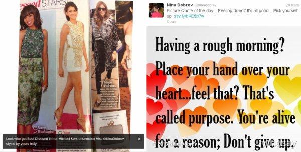 Le 19/03/2013 Ilaria a twitter : Regardez qui s'est le Mieux Habillées dans son ensemble Michael Kors:) Mlle @NinaDobrev - conçu par votre serviteur
