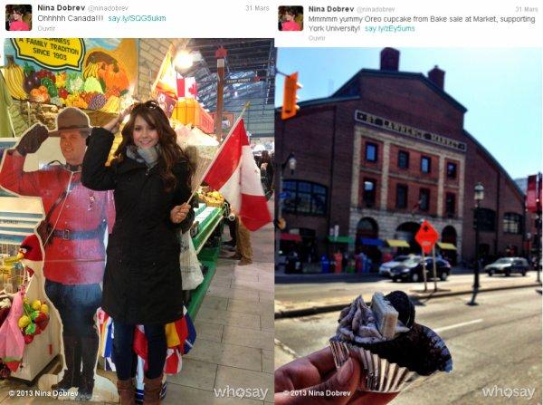 Le 29/03/2013 Nina a twitter : Je suis à la maison :)