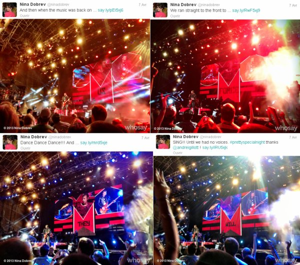 Le 07/04/2013 Nina était a un concert de Muse