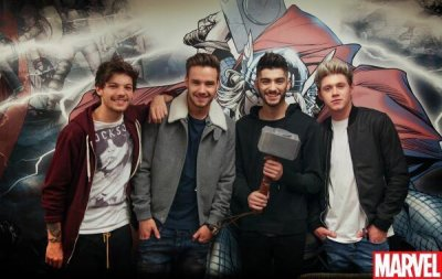 #NEW | The boys at Marvel Comics office - 05.12.2013