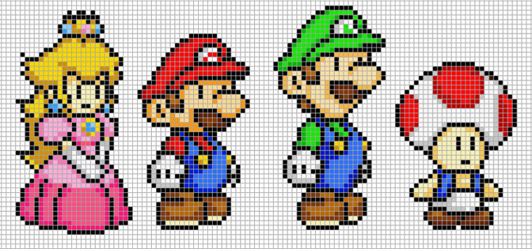 Articles De Full Of Pixelart Taggés Mario Pleins De