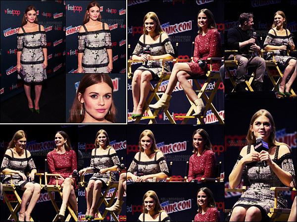 » 08/10/16 - L'actrice Holland Roden était présente au troisième jour du Comic-Con de New York City.  • La belle Holland était évidement présente pour le panel de la série Teen Wolf ! A ses côtés, était présente l'actrice Shelley Hennig.