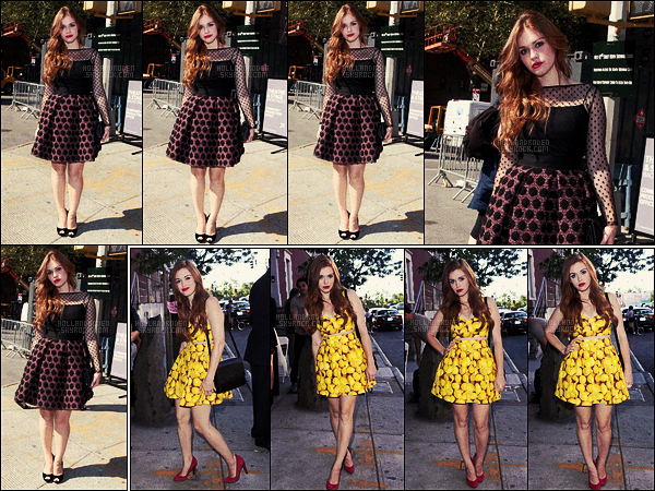 » 12/09/12 - Holland Roden a été aperçue arrivant au défilé de Michelle Smith - dans New York, NY.  + Holland R. a été vue deux jours plus töt, le 10/09, arrivant au défilé Alice + Olivia pendant la Fashion Week de New York City !