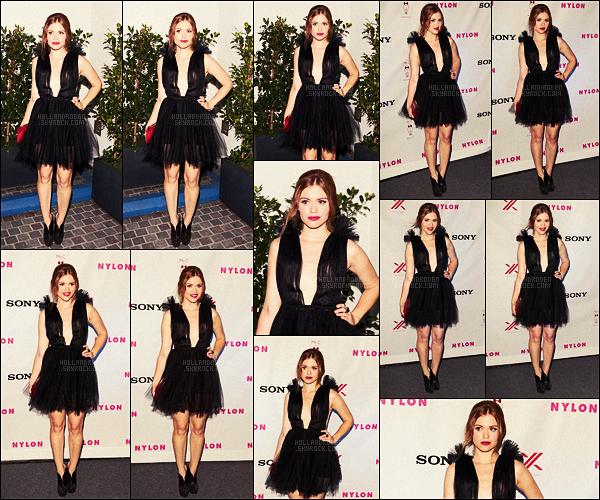 ● Holland Roden était à une soirée organisée par Nylon & Sony, le 15/09/12, à Beverly Hills.