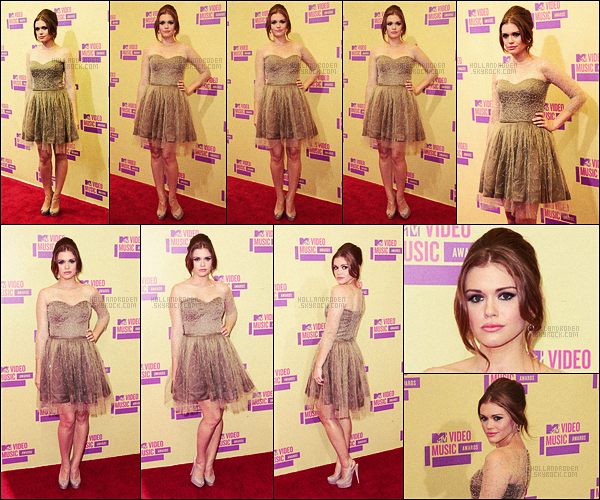 ● Holland Roden était à la cérémonie des MTV Video Music Awards, le 06/09/12 - à L-A !
