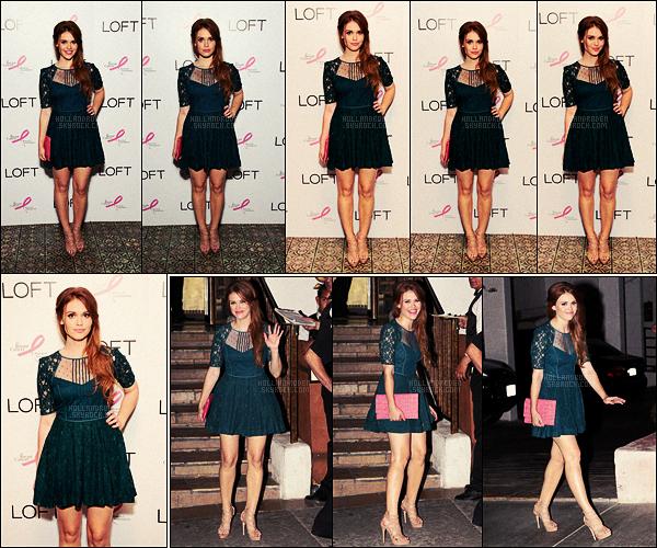 ● Le 15/08/12, Holland Roden était au lancement de la « Live In Pink » dans Los Angeles !