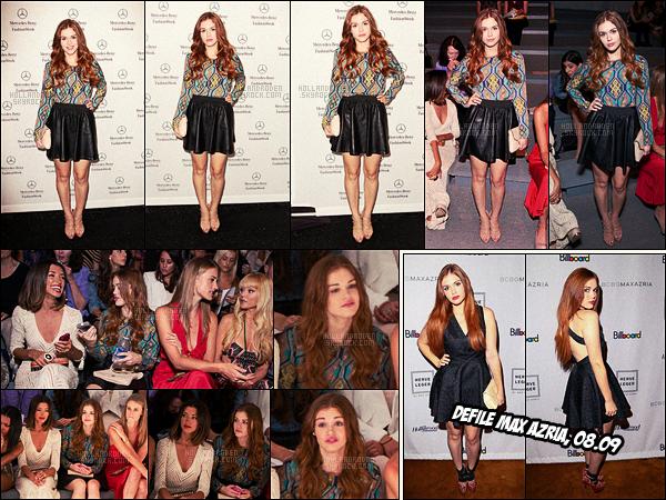 ● Holland Roden était au défilé de la créatrice  Mara Hoffman  à la Fashion Week, 08/09/12.