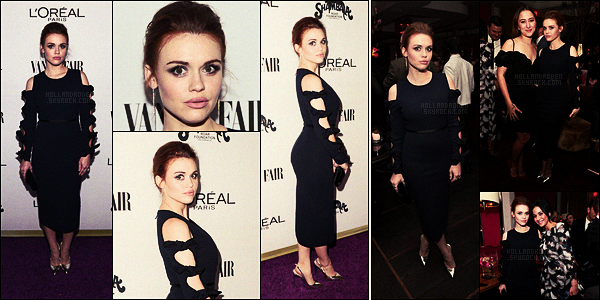 ● Le 21/02/17, Holland Roden était au toast de Vanity Fair et l'Oréal Paris à West Hollywood.